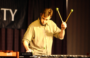 """Performing """"Links No. 1"""" by Stuart Saunders Smith for the PASIC focus day in Columbus."""